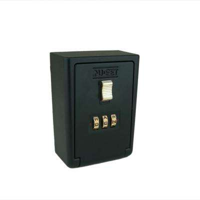 3 Letter Alpha Combination Lock Box, Wall Mount