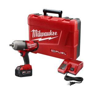 Milwaukee M18 FUEL 18-Volt Lithium-Ion Brushless 1/2 inch Cordless High Torque Impact Wrench with One 5.0Ah... by Milwaukee