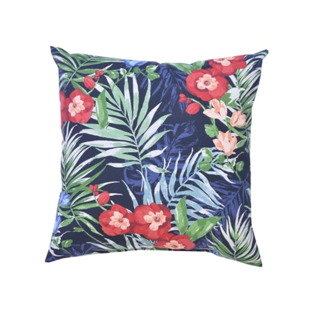 Hampton Bay Caprice Tropical Square Outdoor Throw Pillows (2-Pack)