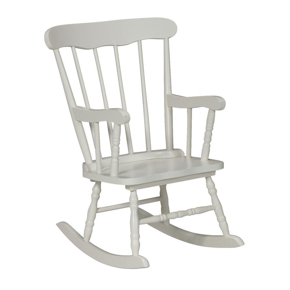 International Concepts White Rocking Kids Chair