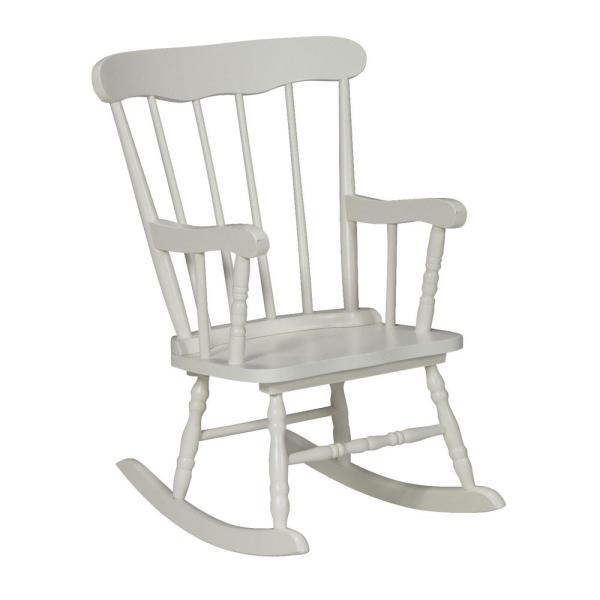 International Concepts White Rocking Kids Chair Cr08 2465