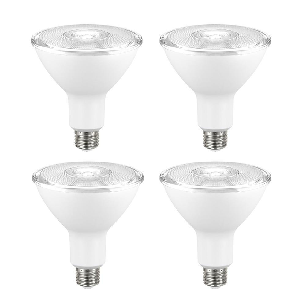 ecosmart 90 watt equivalent non dimmable led flood light bulb bright white 4 pack. Black Bedroom Furniture Sets. Home Design Ideas