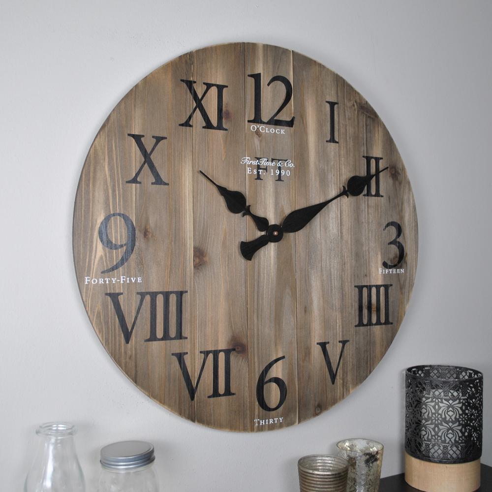 Rustic Weathered Barnwood Wall Clock
