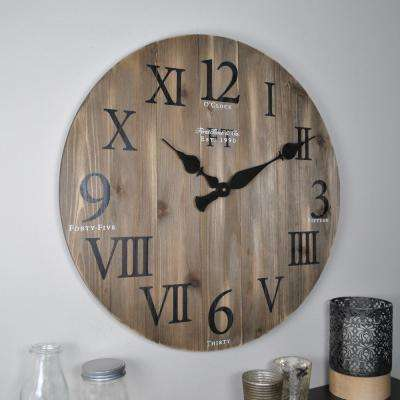Merveilleux Rustic Weathered Barnwood Wall Clock