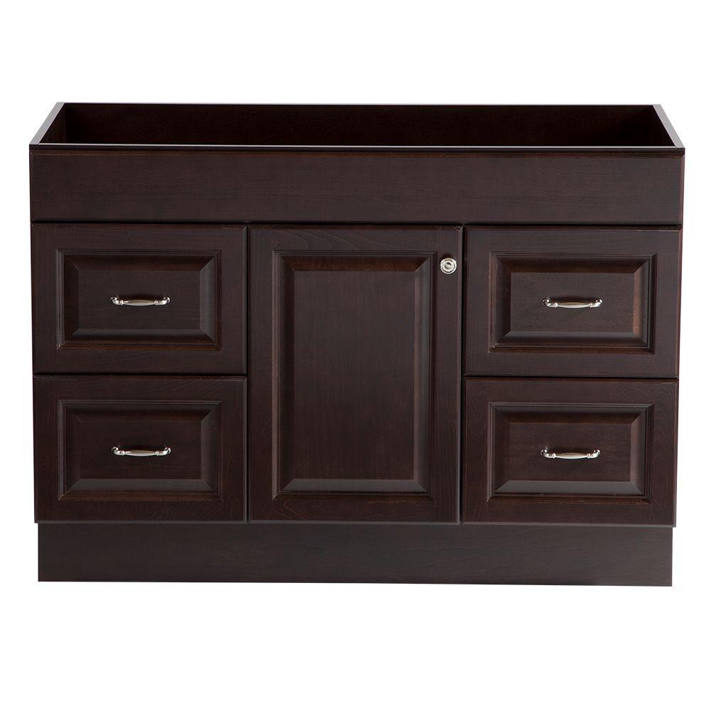 Home Decorators Collection Dowsby 48 in. Vanity Cabinet Only in Chocolate