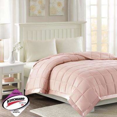 Prospect All Season Hypoallergenic Down Alternative Blanket Blush with 3M Scotchgard