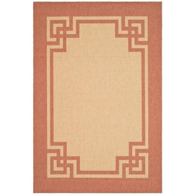 Deco Frame Sand/Rust 4 ft. x 6 ft. Area Rug