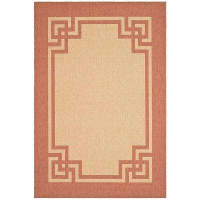 Deco Frame Sand/Rust 4 ft. x 5 ft. 7 in. Area Rug