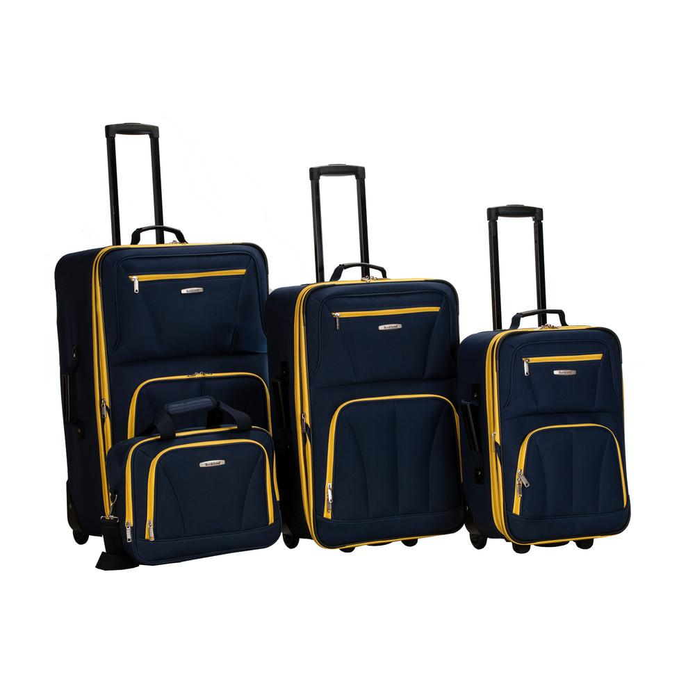 ada72715e3fb Rockland Rockland Sydney Collection Expandable 4-Piece Softside Luggage  Set