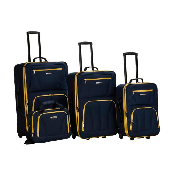 Rockland Rockland Sydney Collection Expandable 4-Piece Softside Luggage Set,