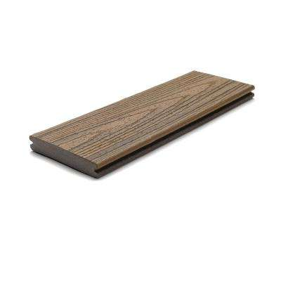 Transcend 1 in. x 5.5 in. x 1 ft. Havana Gold Composite Decking Board Sample