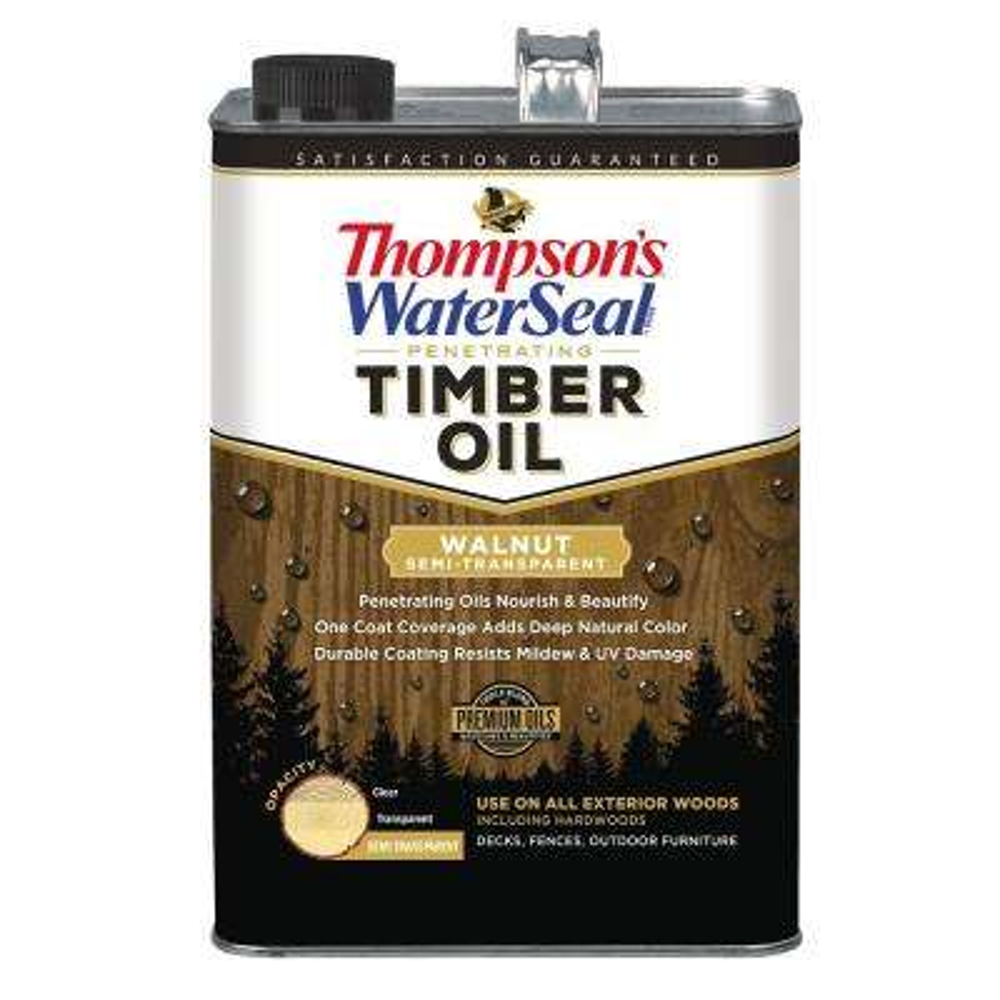 1 gal. Semi-Transparent Walnut Penetrating Timber Oil Exterior (4-Pack)