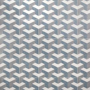 Branwell Corb Encaustic 9 in. x 9 in. 11mm Matte Porcelain Floor and Wall Tile (10.76 sq. ft. / Box)