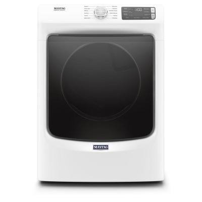Maytag 7 3 Cu Ft 240 Volt White Stackable Electric Vented Dryer With Steam Energy Star Med6630hw The Home Depot