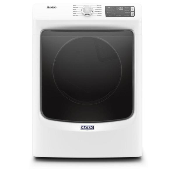 7.3 cu. ft. 240-Volt White Stackable Electric Vented Dryer with Steam, ENERGY STAR
