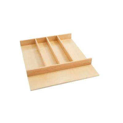 2.38 in. H x 18.5 in. W x 22 in. D Short Wood Cabinet Drawer Utility Tray Insert