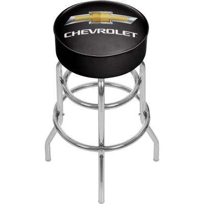 Chevy 31 in. Chrome Swivel Cushioned Bar Stool