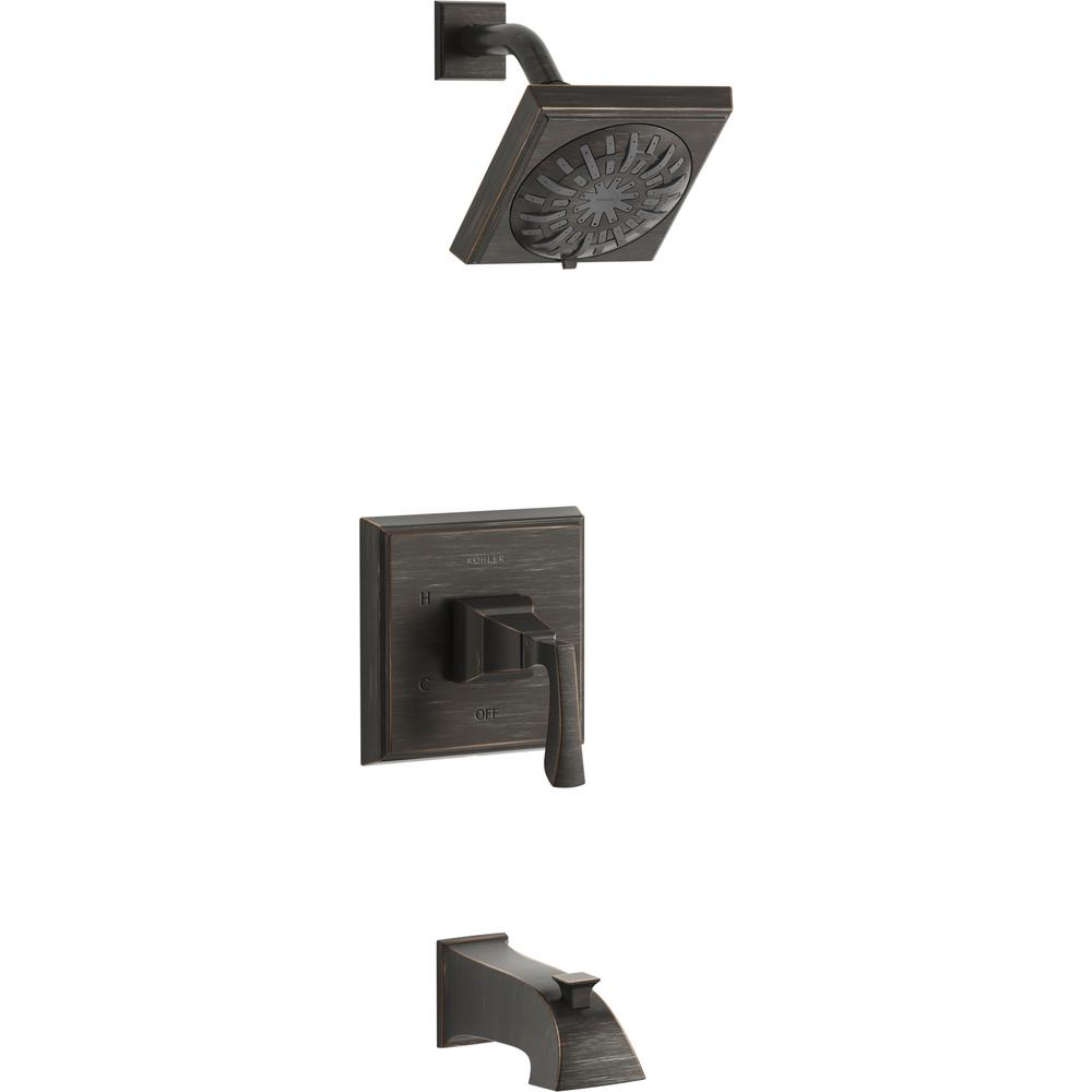 KOHLER Kallan Rite-Temp Single-Handle 1-Spray Tub and Shower Faucet in Oil-Rubbed Bronze (Valve Included)