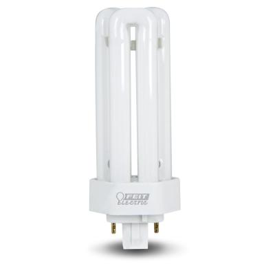 26-Watt Equivalent PL CFLNI Triple Tube 4-Pin GX24Q-3 Base Compact Fluorescent CFL Light Bulb, Soft White 2700K (1-Bulb)