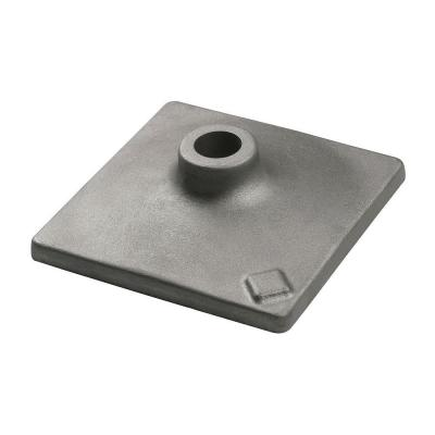 8 in. x 8 in. Hammer Steel Tamper Plate for Use with HS2173