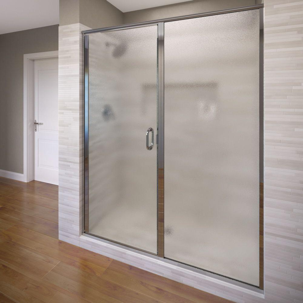 Infinity 46 in. x 68-5/8 in. Semi-Frameless Hinged & Basco Infinity 28 in. x 76 in. Semi-Frameless Hinged Shower Door ... pezcame.com