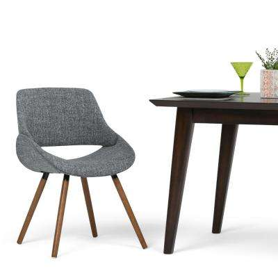 Malden Bentwood Dining Chair in Grey Woven Fabric