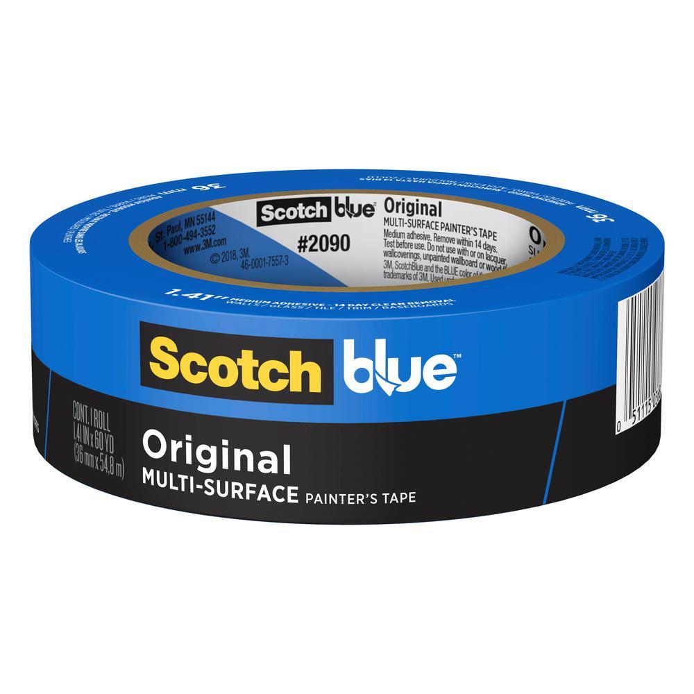 3M ScotchBlue 1.41 in. x 60 yds. Original Multi-Surface Painter's Tape (Case of 24)