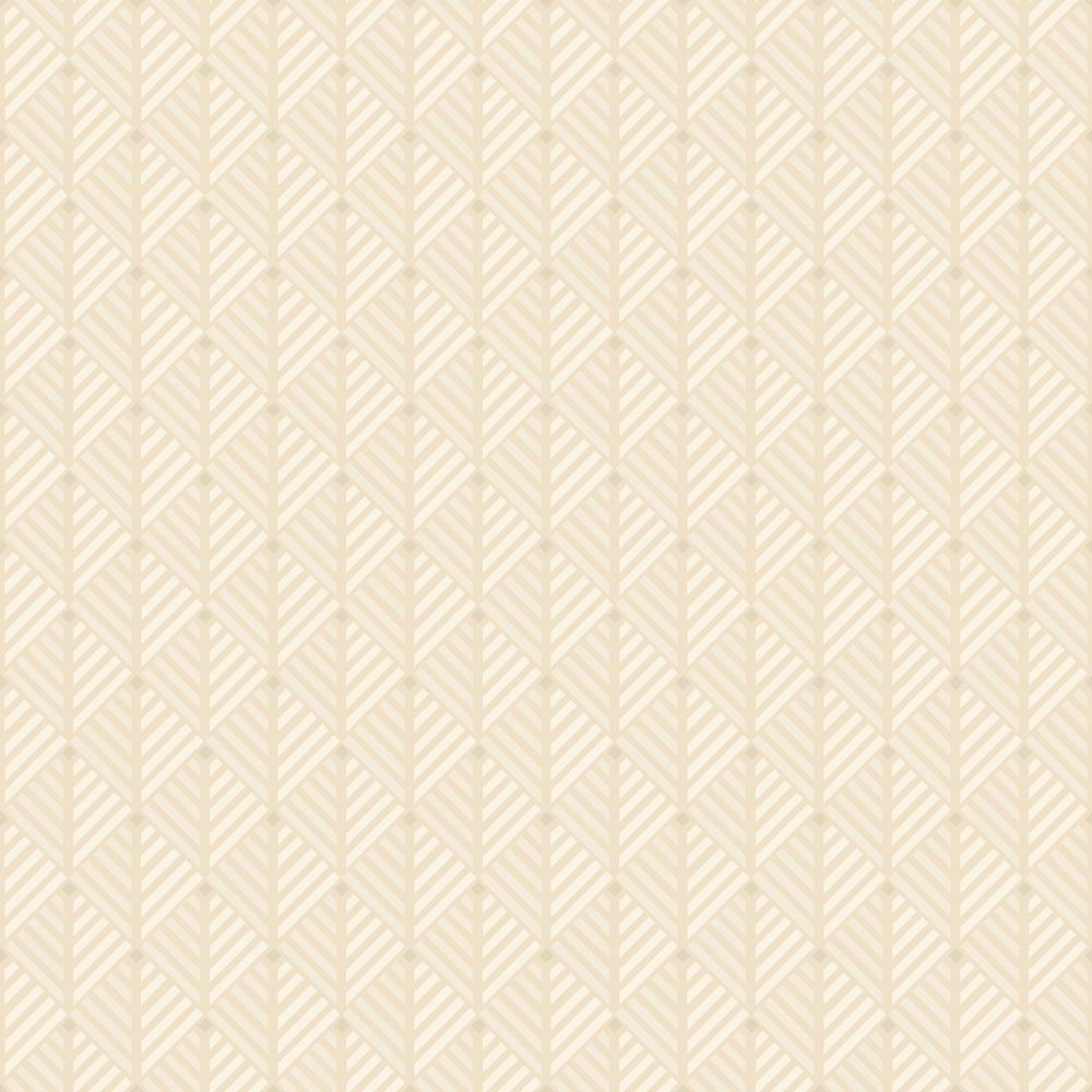 57.8 sq. ft. Opera Cream Geometric Wallpaper