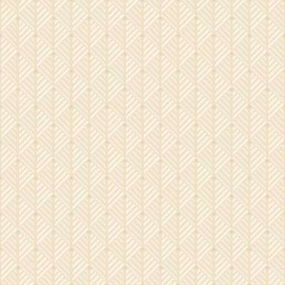 8 in. x 10 in. Opera Cream Geometric Wallpaper Sample