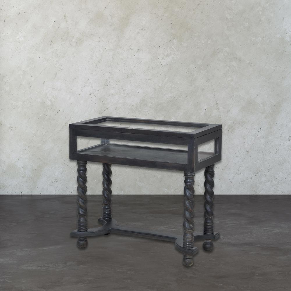 An Lighting Barley Twist Ash Black Stain Display Console Table