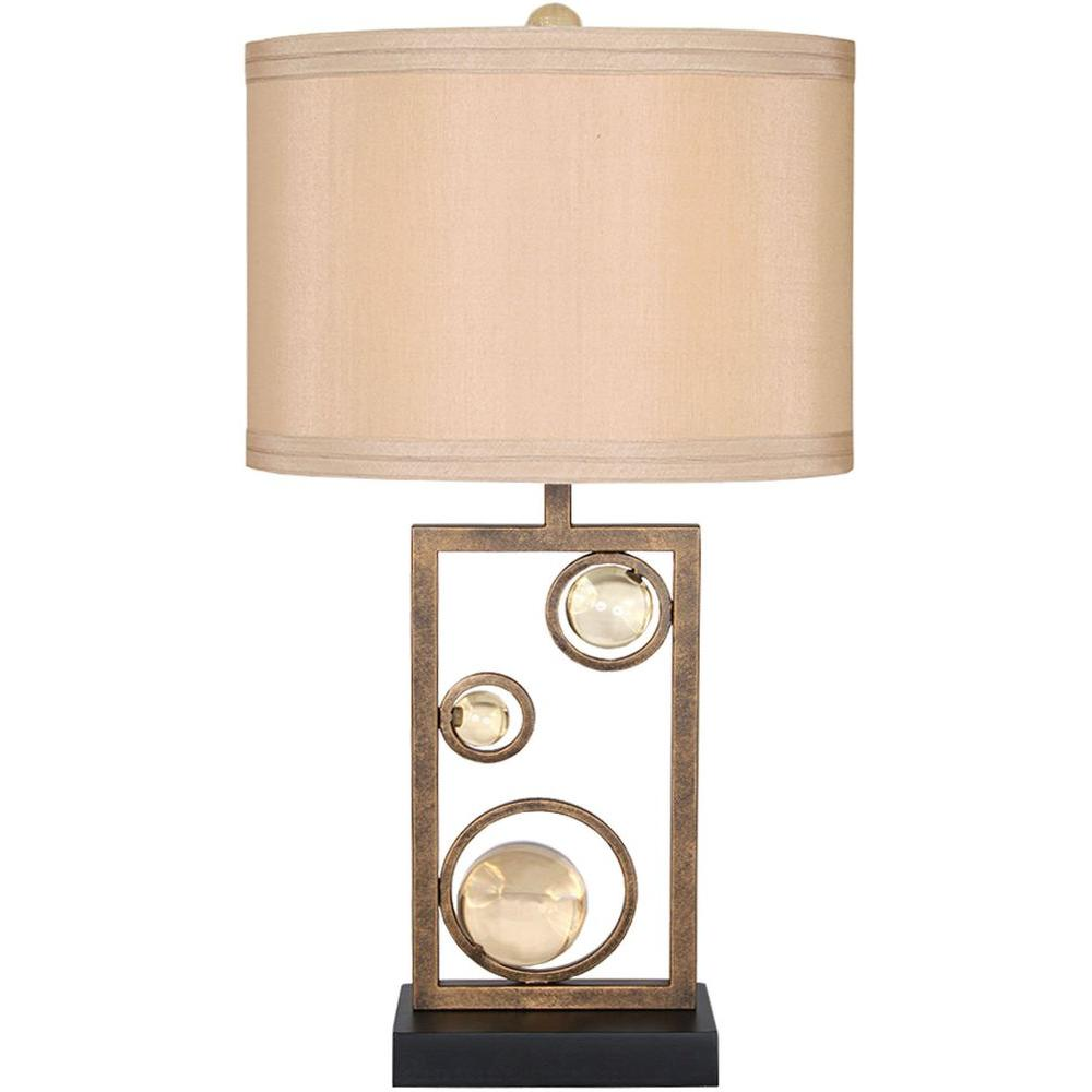 Filament Design Century 31 in. Golden Ochre and Black Table Lamp
