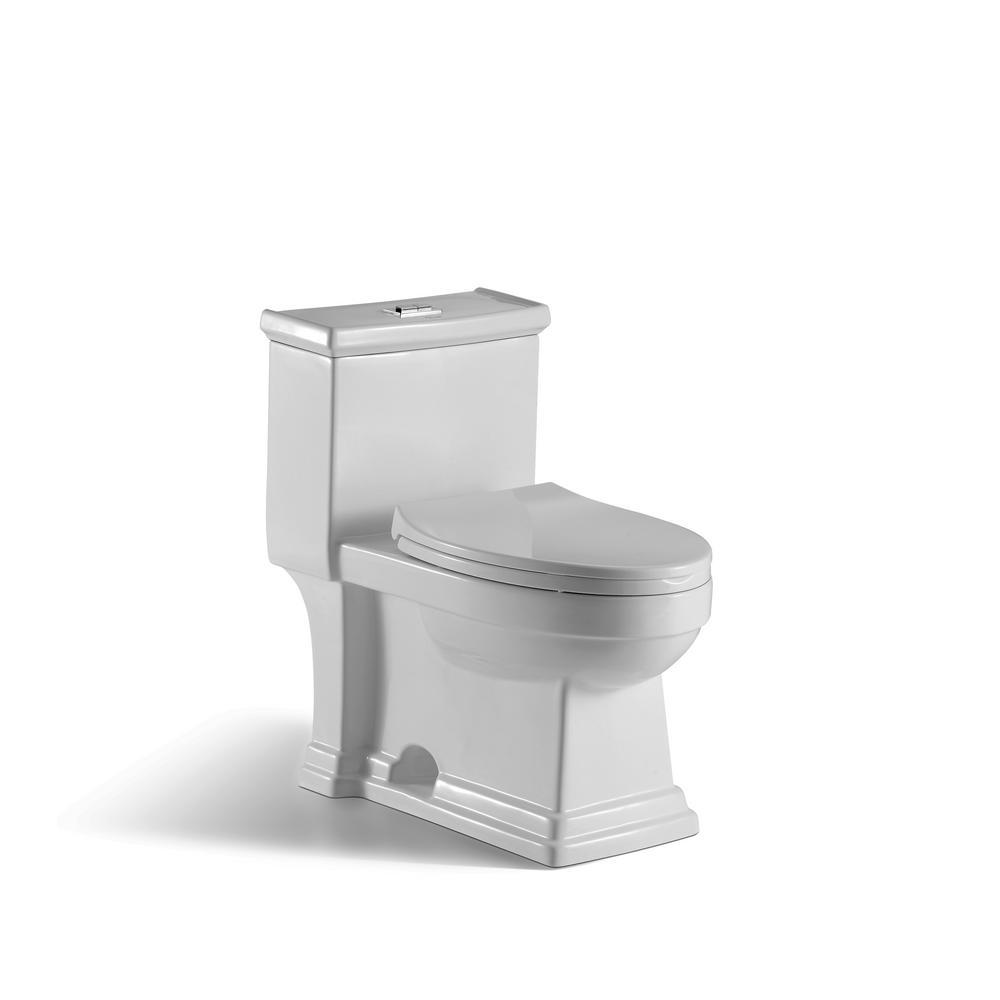 innoci-usa Block 1-piece 1.0 GPF/1.5 GPF High Efficiency Dual Flush ...
