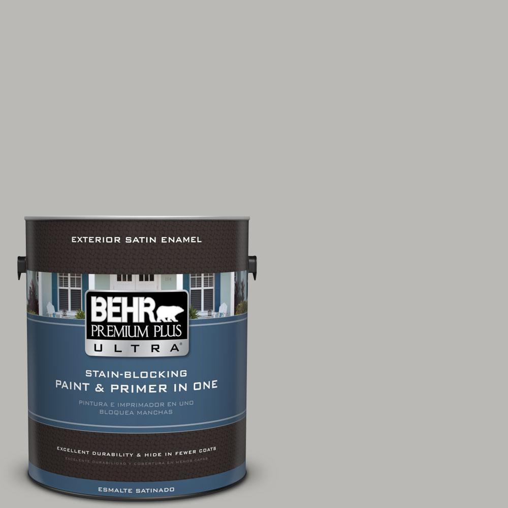 BEHR Premium Plus Ultra 1-gal. #PPU18-11 Classic Silver Satin Enamel Exterior Paint