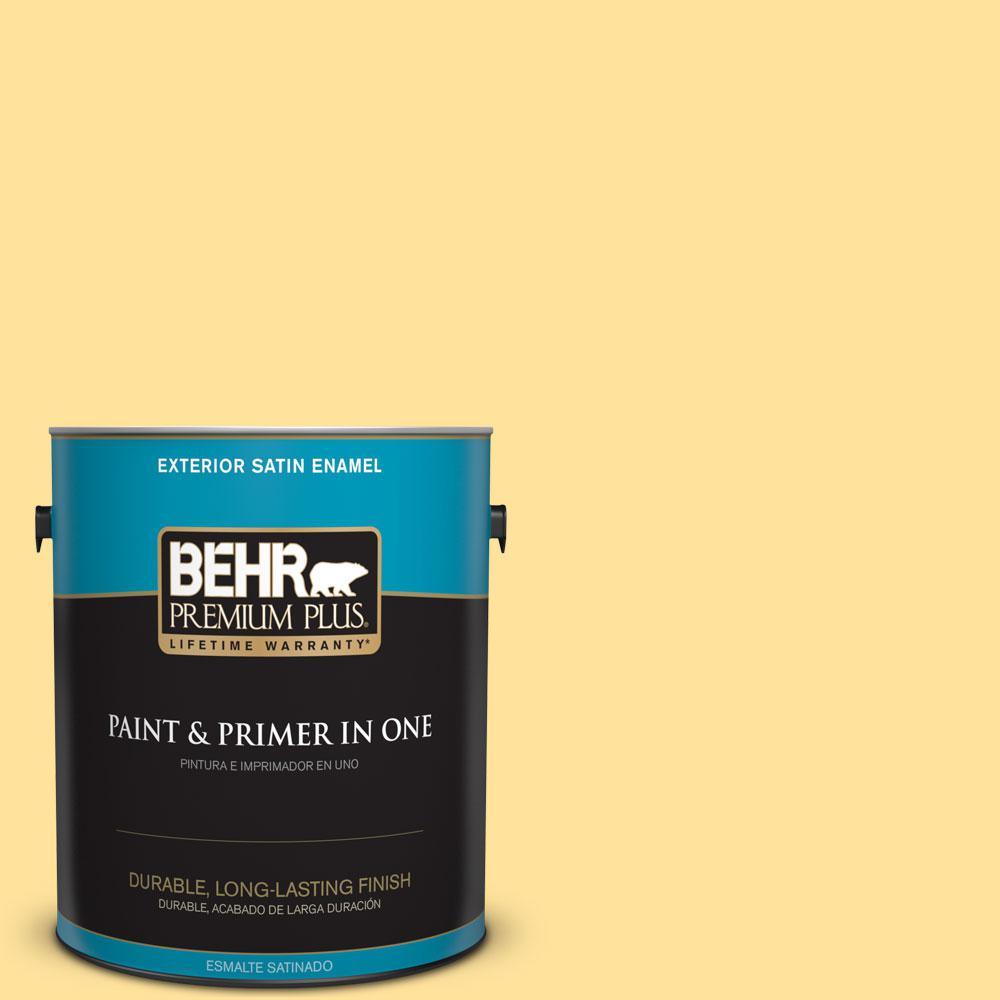 1-gal. #P290-3 Roasted Corn Satin Enamel Exterior Paint