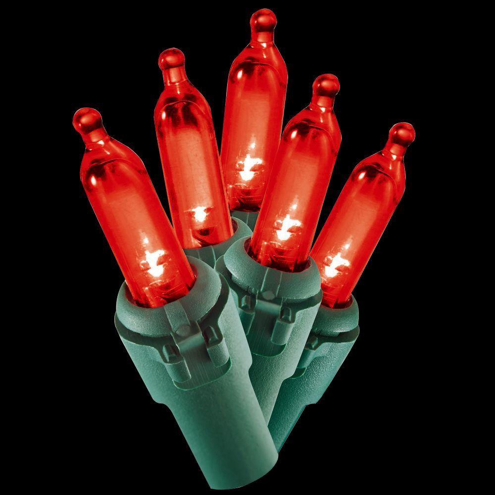 100-Light LED Red Mini Light Set