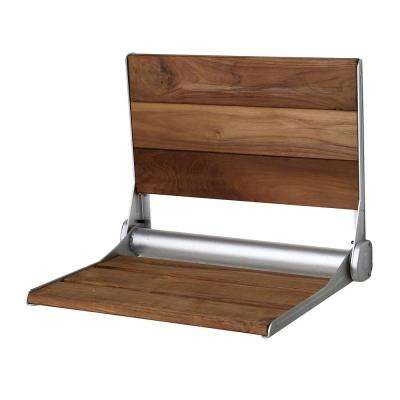 Saxon Wall Mounted Teak Shower Seat