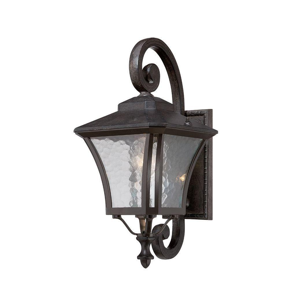Acclaim Lighting Tuscan Collection 1-Light Outdoor Black Coral Wall Mount Light Fixture