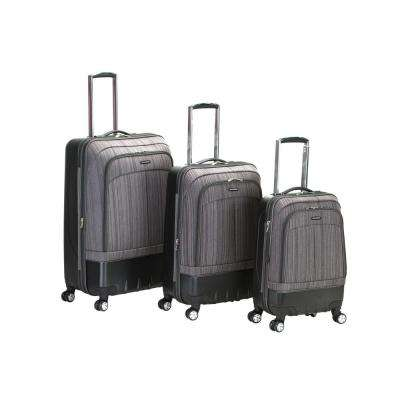 Rockland Milan Hybrid EVA/ABS 3-Piece Softside Luggage Set, Brown