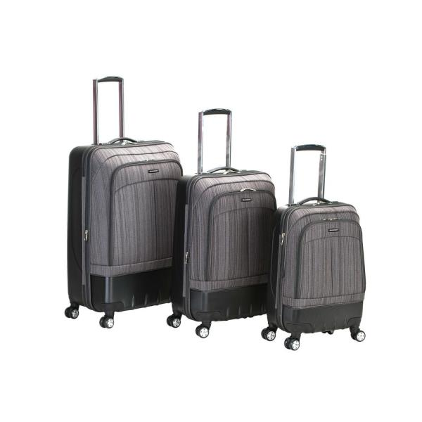 b7587698c Rockland Rockland Milan Hybrid EVA/ABS 3-Piece Softside Luggage Set, Brown