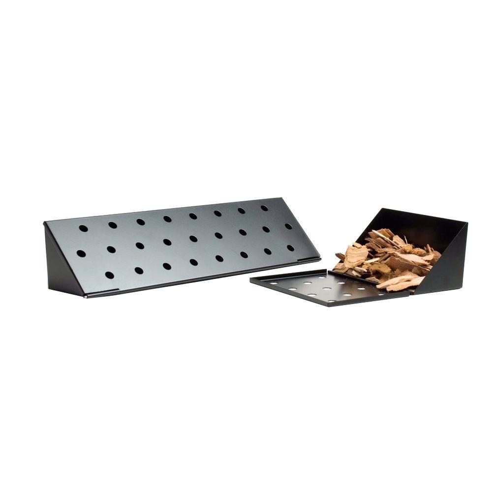charcoal companion non stick gas grill v smoker box long cc4057 the home depot. Black Bedroom Furniture Sets. Home Design Ideas