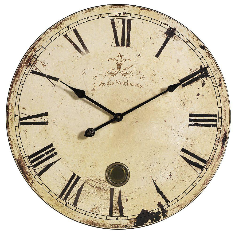Imax 23 In Oversized Yellow And Cream Wall Clock 2511 The Home Depot