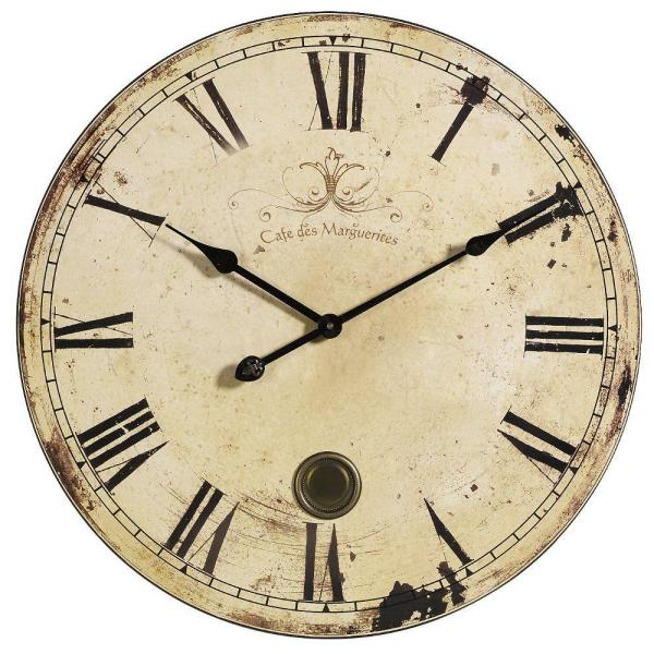 IMAX 23 in. Oversized Yellow and Cream Wall Clock 2511