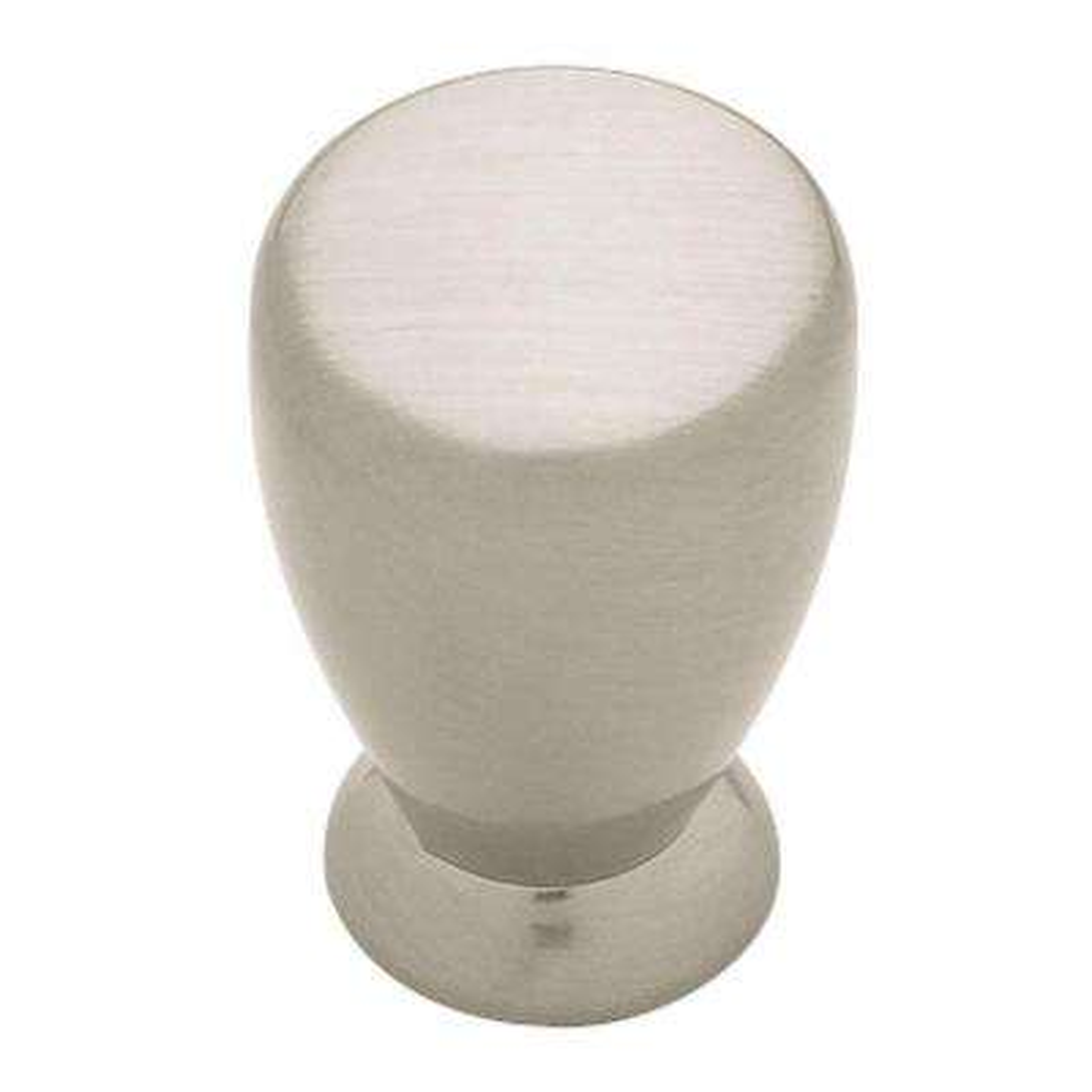3/4 in. (19mm) Satin Nickel Milk Bottle Cabinet Knob
