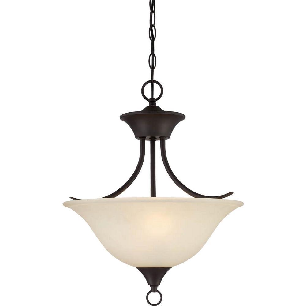 Trinidad 2-Light Antique Bronze Pendant/Semi Flush-Mount Light