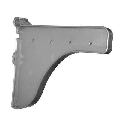 12 in. x 10 in. Silver End Bracket for Shelf (for mounting to back wall/connecting shelves)