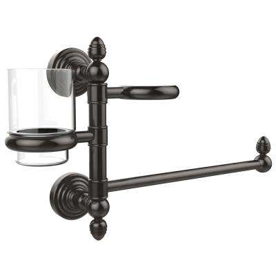 Waverly Place Collection Hair Dryer Holder and Organizer in Oil Rubbed Bronze