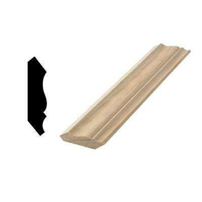 WM 54 9/16 in. x 2-1/4 in. x 96 in. Solid Pine Crown Moulding