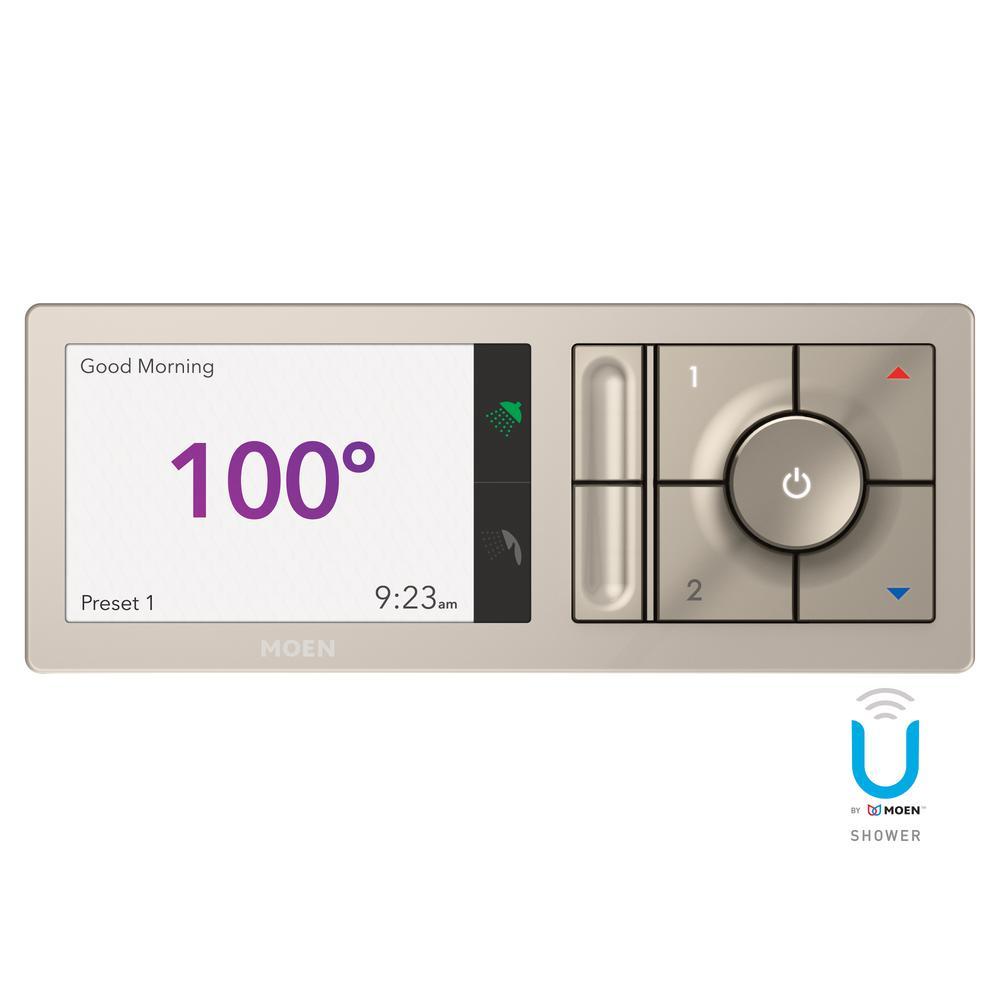 MOEN - U by MOEN 2-Outlet Digital Shower Controller in Terra Beige (Valve Not Included)
