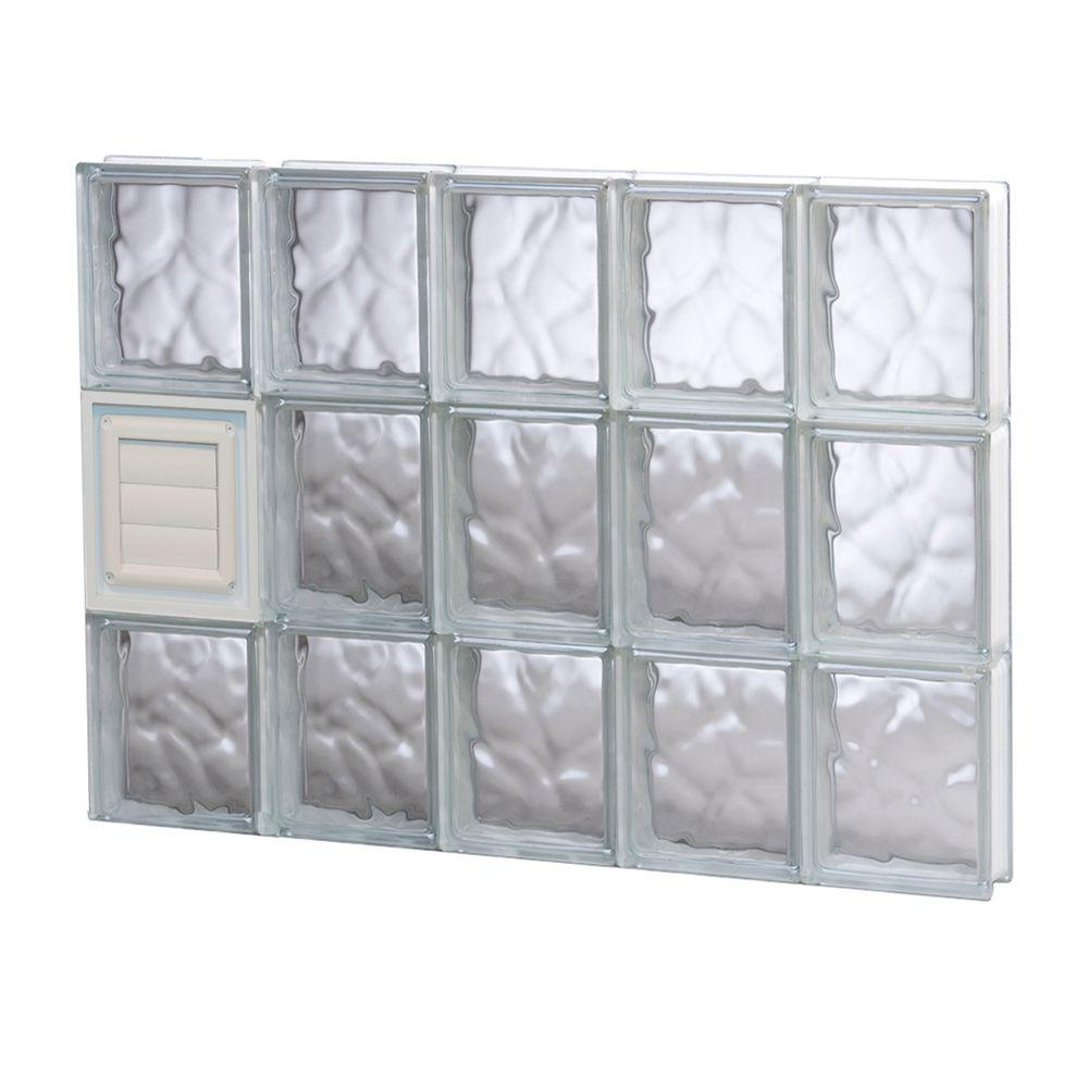 Clearly secure in x in x in wave for Pre assembled glass block windows