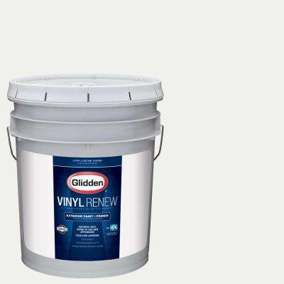 5 gal. #HDGY56 White On White Low-Lustre Exterior Paint with Primer